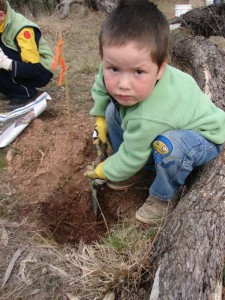 No one is too young to plant a tree!